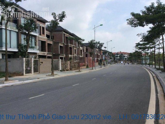 Bán biệt thự Thành Phố Giao Lưu 230m2 view hồ lô góc giá 51tỷ