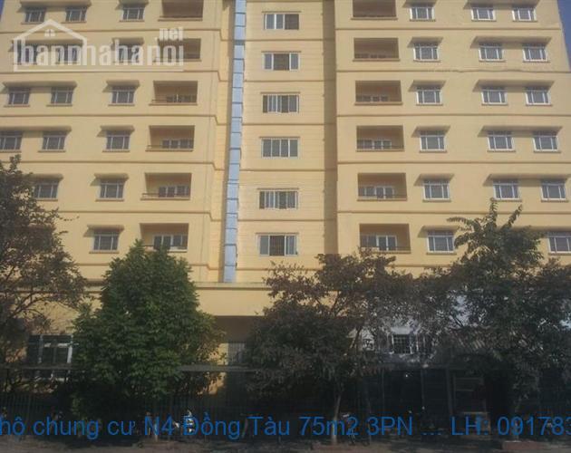 Bán căn hộ chung cư N4 Đồng Tàu 75m2 3PN 2WS nhà mới, sổ đỏ
