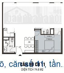 Bán chung cư B6 Giảng Võ, căn số 11, tầng 16, diện tích 75m2 giá 60