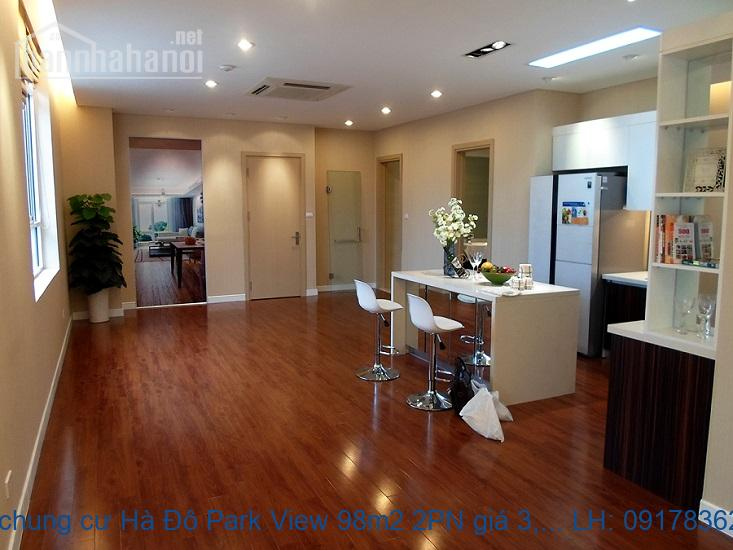Bán chung cư Hà Đô Park View 98m2 2PN giá 3,7tỷ