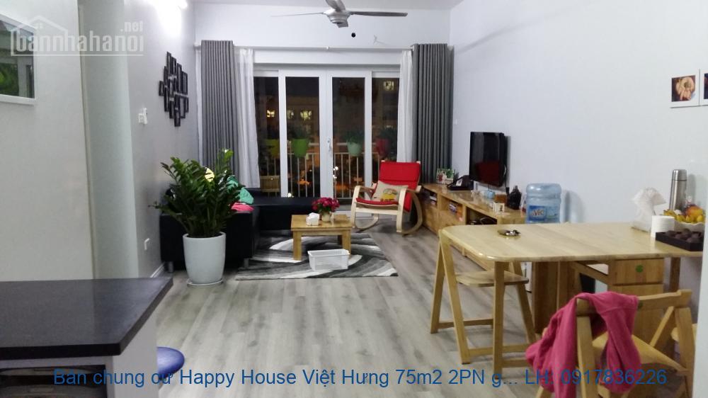 Bán chung cư Happy House Việt Hưng 75m2 2PN giá 1,35tỷ