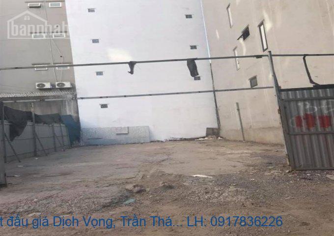 Bán đất đấu giá Dịch Vọng, Trần Thái Tông 124m2 MT:7m giá 32tỷ