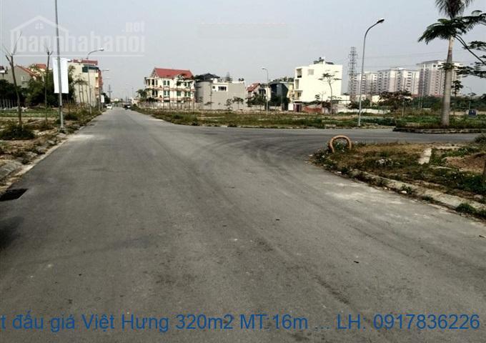 Bán đất đấu giá Việt Hưng 320m2 MT:16m lô góc giá 19tỷ