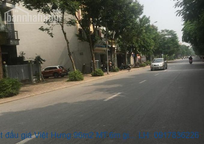 Bán đất đấu giá Việt Hưng 96m2 MT:6m giá 6,9tỷ