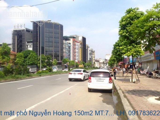 Bán đất mặt phố Nguyễn Hoàng 150m2 MT:7m giá 52tỷ