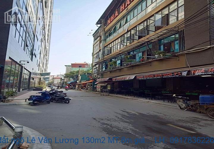Bán đất ngõ Lê Văn Lương 130m2 MT:8m giá 24tỷ