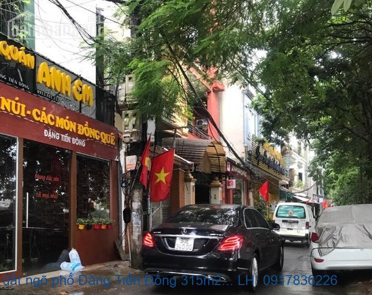 Bán đất ngõ phố Đặng Tiến Đông 315m2 MT:13m giá 54tỷ
