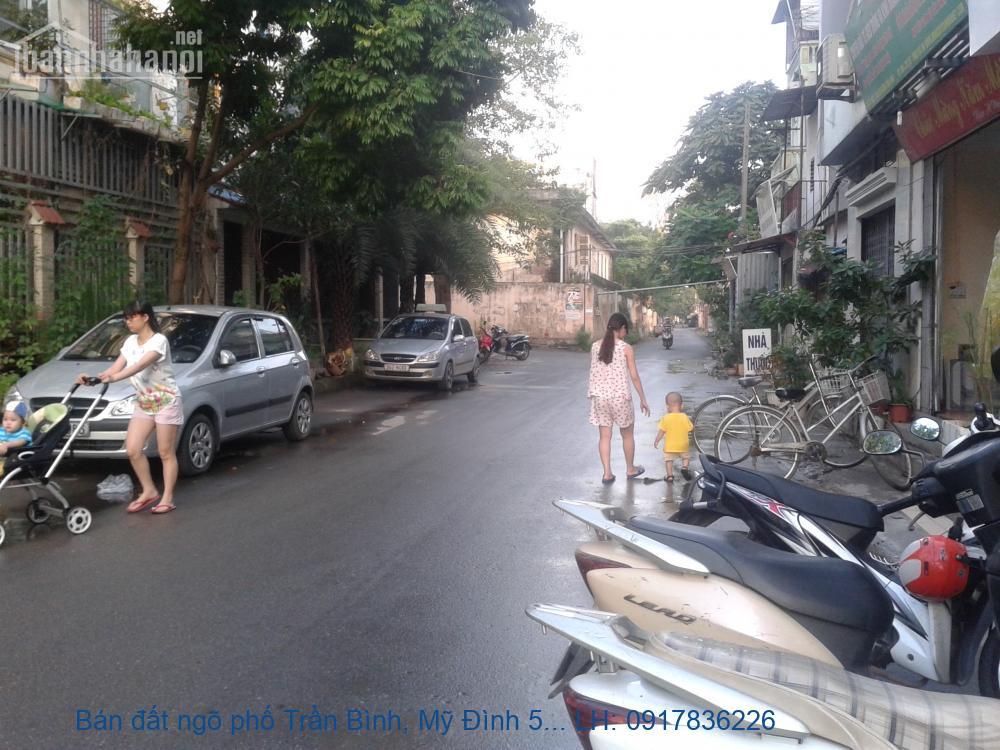 Bán đất ngõ phố Trần Bình, Mỹ Đình 554m2 mt:18m lô góc 53tỷ