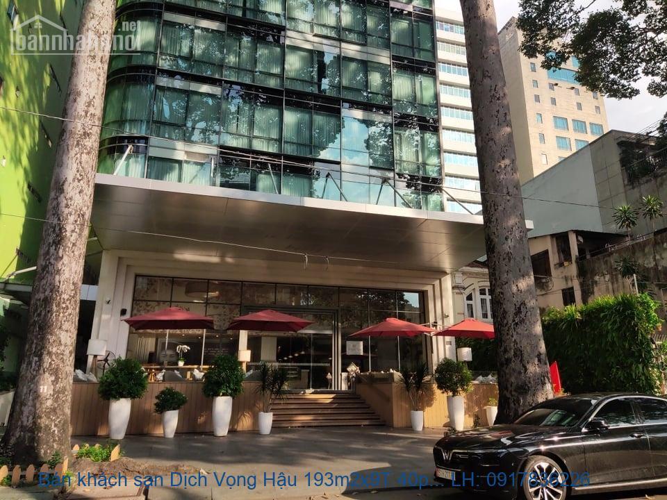 Bán khách sạn Dịch Vọng Hậu 193m2x9T 40phòng giá 89tỷ