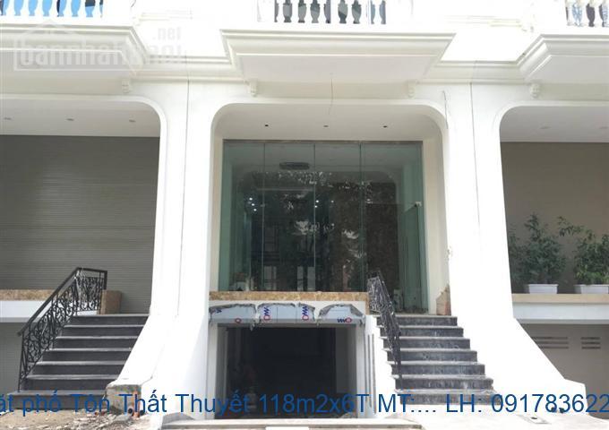 Bán mặt phố Tôn Thất Thuyết 118m2x6T MT:5m giá 40tỷ