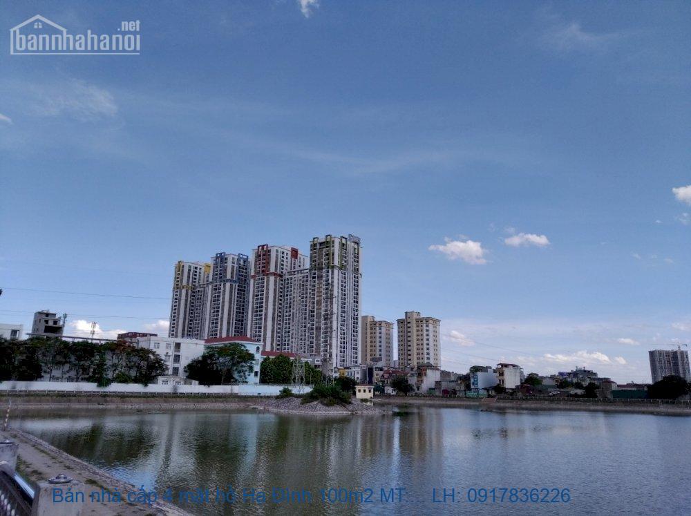 Bán nhà cấp 4 mặt hồ Hạ Đình 100m2 MT:5m giá 15tỷ