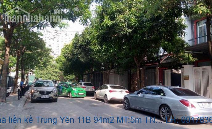 Bán nhà liền kề Trung Yên 11B 94m2 MT:5m TN giá 23tỷ