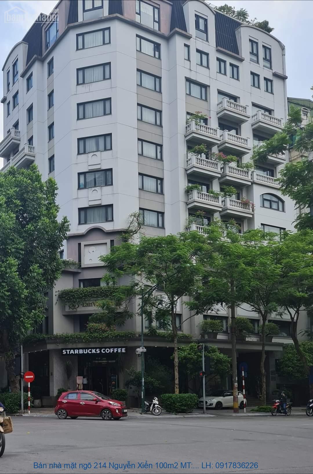 Bán nhà mặt ngõ 214 Nguyễn Xiển 100m2 MT:8m giá 25tỷ