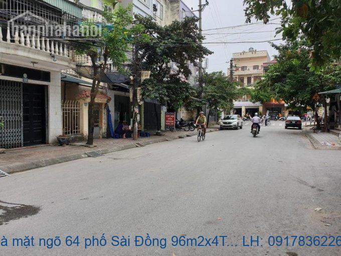 Bán nhà mặt ngõ 64 phố Sài Đồng 96m2x4T MT:6m giá 7tỷ