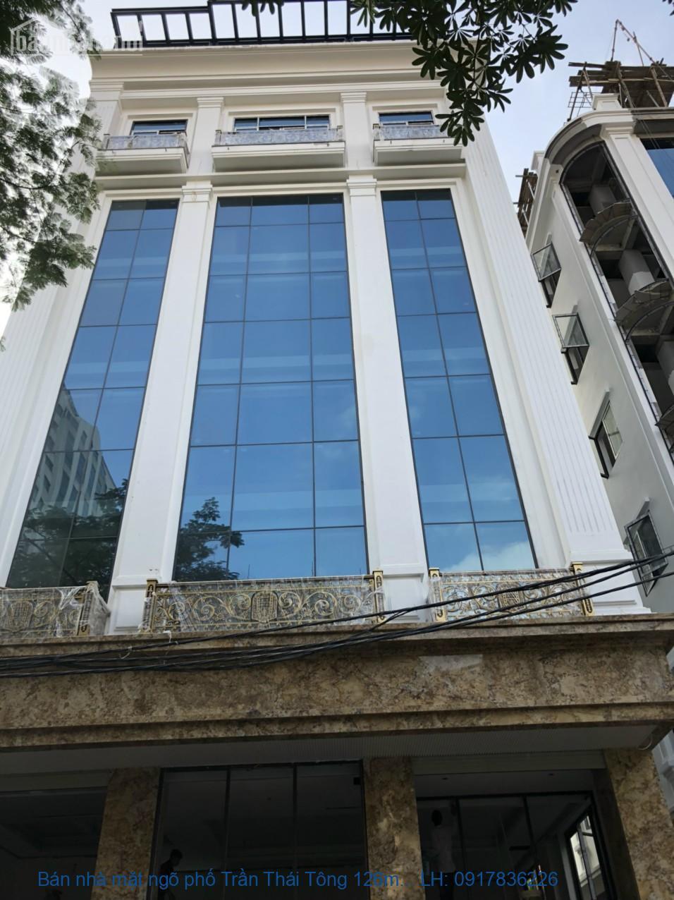 Bán nhà mặt ngõ phố Trần Thái Tông 126m2x7T MT:7m