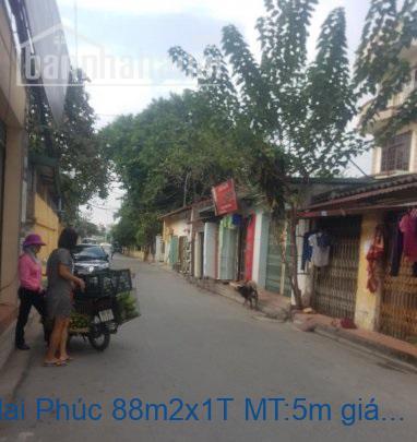 Bán nhà mặt phố Mai Phúc 88m2x1T MT:5m giá 5,3tỷ