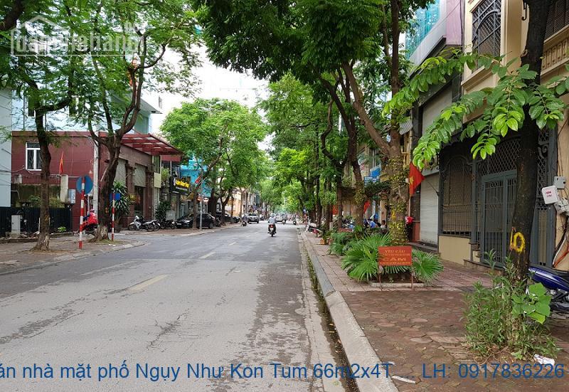Bán nhà mặt phố Ngụy Như Kon Tum 66m2x4T MT:4,5m giá 19ỷ