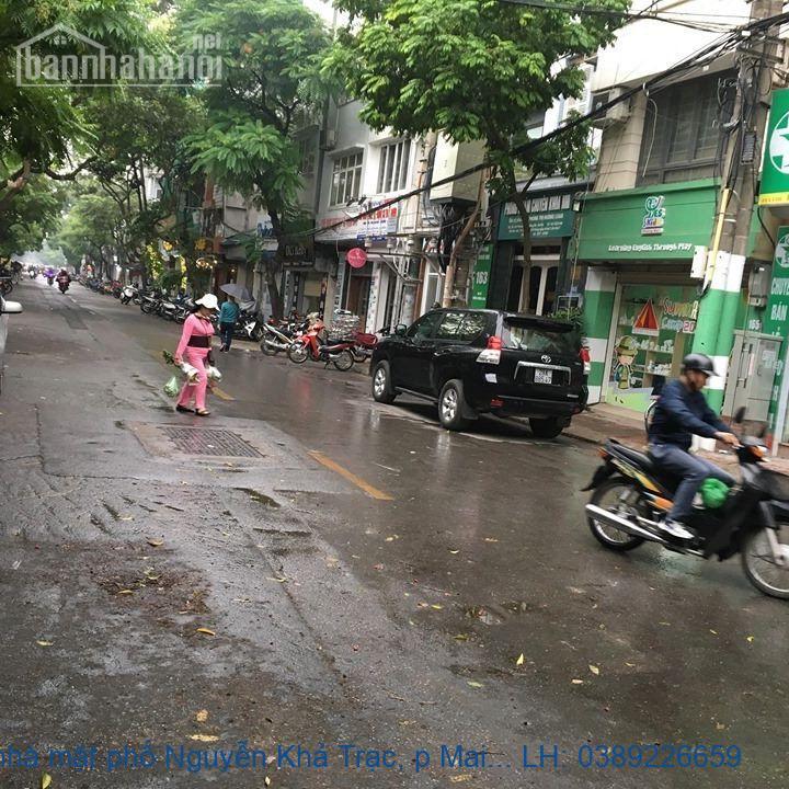 Bán nhà mặt phố Nguyễn Khả Trạc, p Mai Dịch, Cầu Giấy 86 m2 giá 1