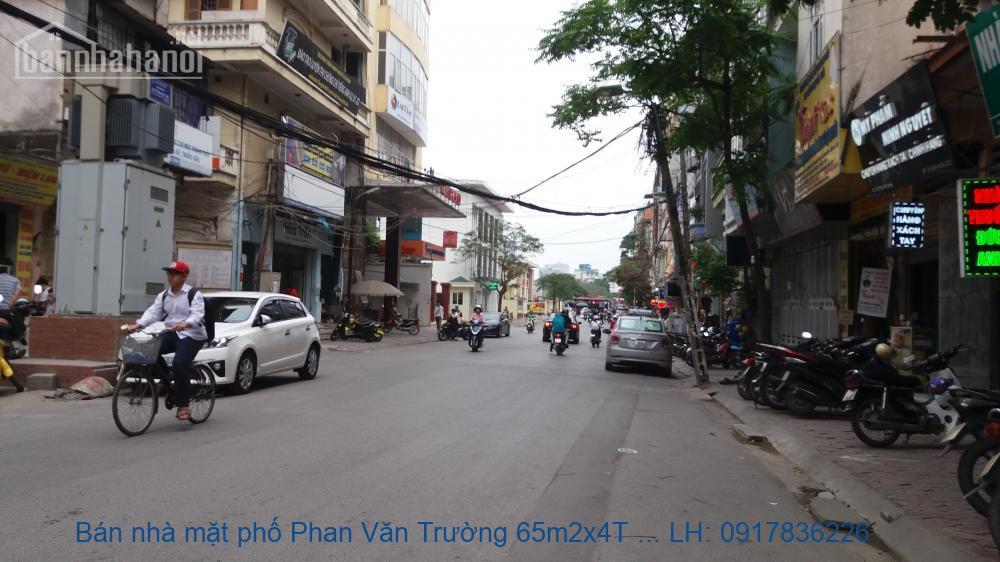 Bán nhà mặt phố Phan Văn Trường 65m2x4T MT:5m giá 17tỷ