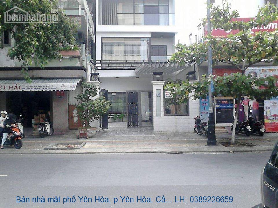 Bán nhà mặt phố Yên Hòa, p Yên Hòa, Cầu Giấy 60m2 giá 10tỷ