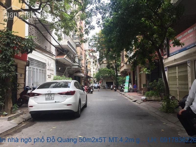 Bán nhà ngõ phố Đỗ Quang 50m2x5T MT:4,2m giá 12tỷ