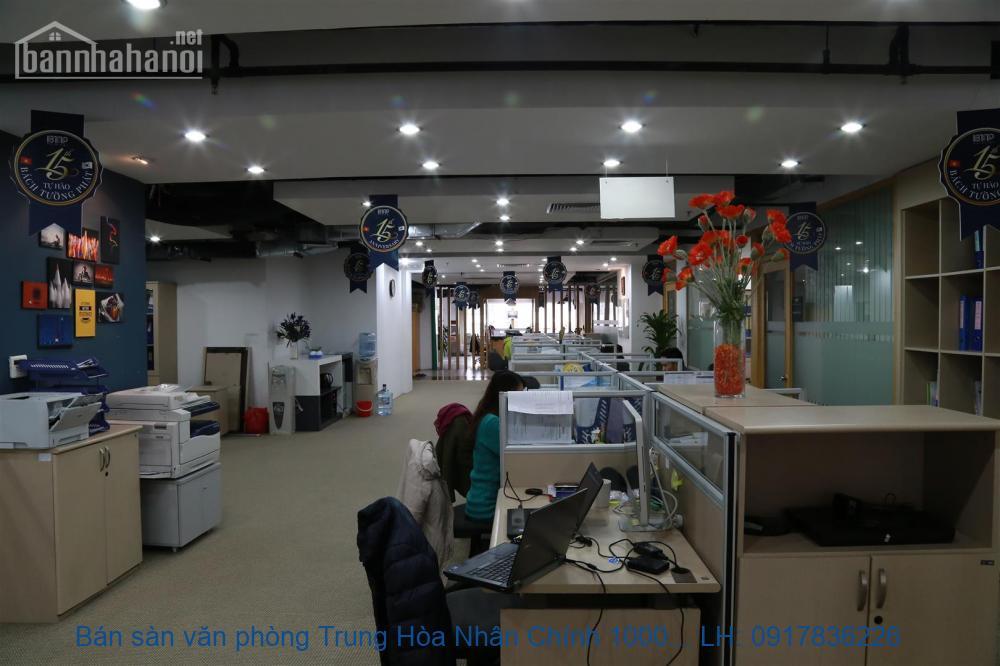 Bán sàn văn phòng Trung Hòa Nhân Chính 1000m2 giá 43tỷ
