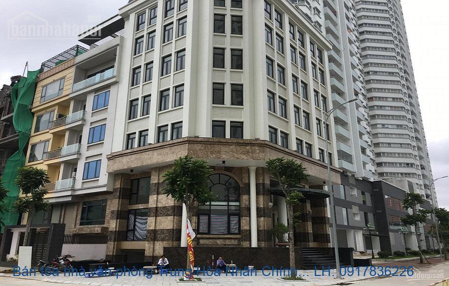 Bán tòa nhà văn phòng Trung Hòa Nhân Chính 145m2x8T MT: 9m lô góc giá