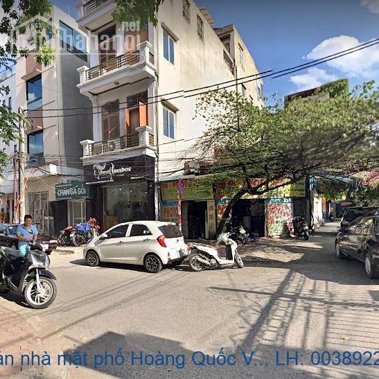 Chính chủ bán nhà mặt phố Hoàng Quốc Việt, Cầu Giấy 90m2 giá 29 t