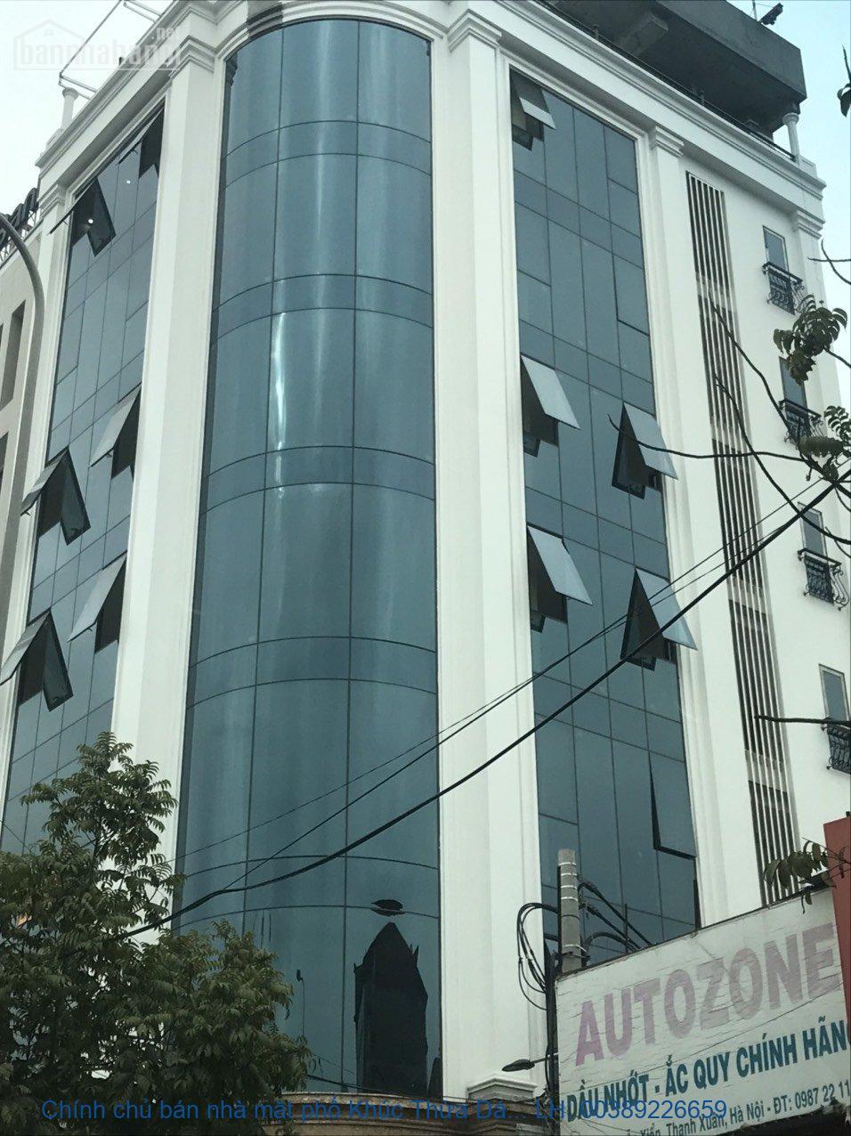Chính chủ bán nhà mặt phố Khúc Thừa Dụ, Cầu Giấy 180m2 giá 80ty