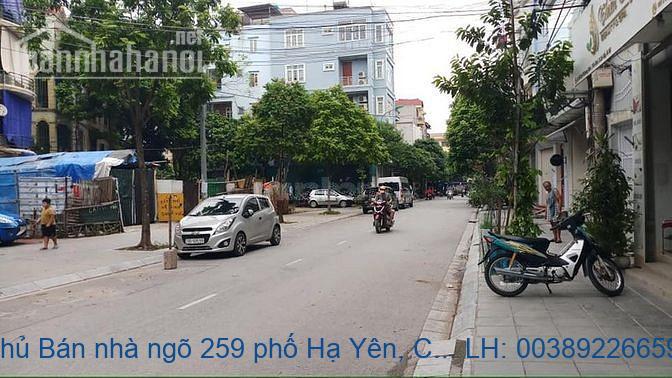 Chính chủ Bán nhà ngõ 259 phố Hạ Yên, Cầu Giấy 100m2 giá 17tỷ