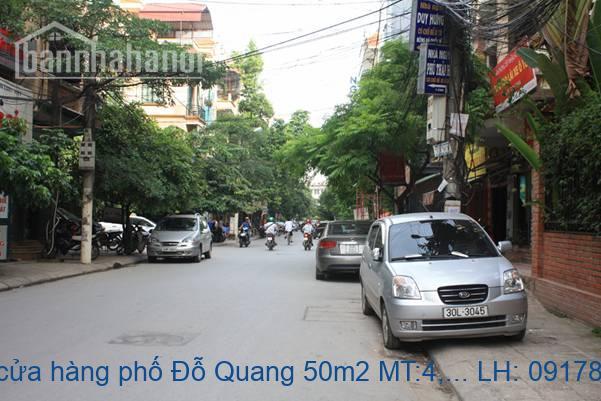 Cho thuê cửa hàng phố Đỗ Quang 50m2 MT:4,3m giá 12tr/tháng