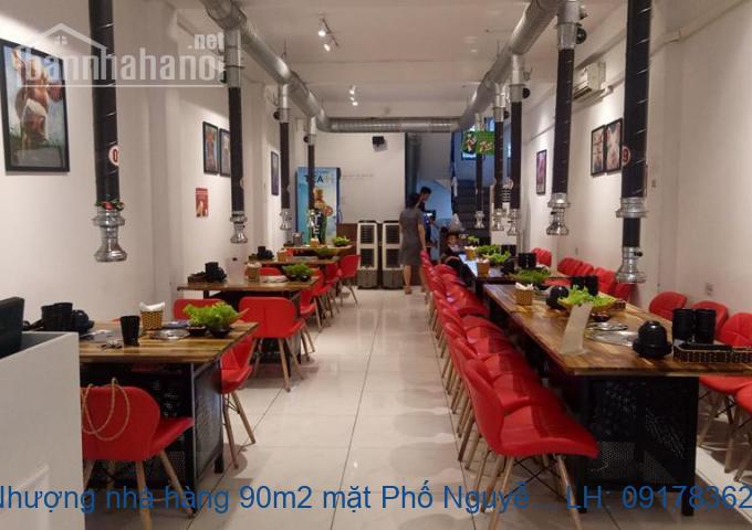 Sang Nhượng nhà hàng 90m2 mặt Phố Nguyễn Khang